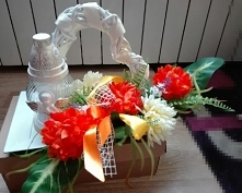 dekoracja znicza DIY