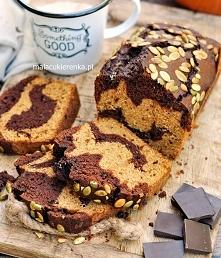 Ciasto dyniowe z czekoladą dwukolorowe. Przepis po kliknięciu w zdjęcie.