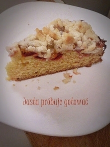 Ucierane ciasto ze śliwką