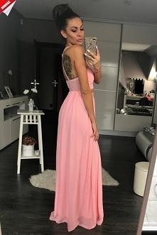 Wieczorowa długa suknia
