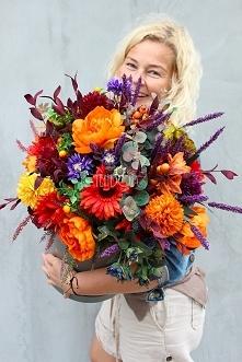 jesienne boxy z kwiatami z ...