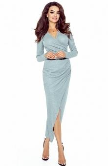 Bergamo 75-02 sukienka szar...