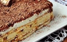 Ciasto krówkowe z batonikami lion