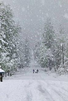śnieżnie :)