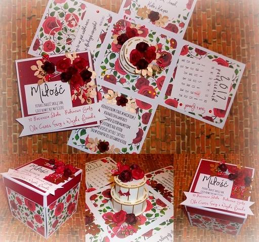 Exploding Box na 40 rocznicę ślubu! biel-bordo :)  Masz pytania? Chcesz złożyć zamówienie? Pisz! kraina_czarow@interia.pl