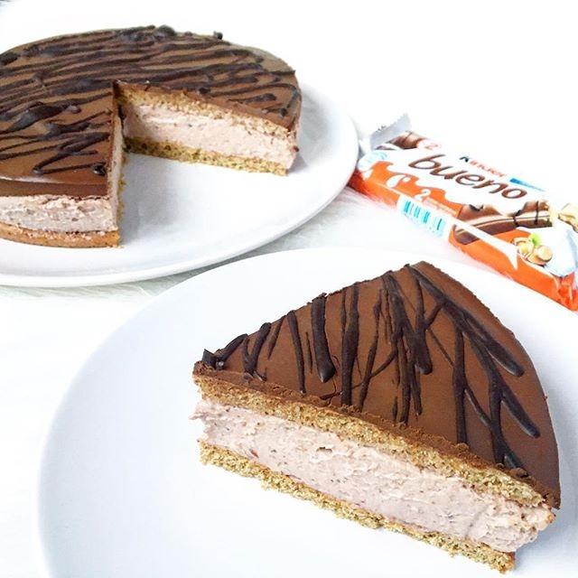 Fit Kinder Bueno Cake Przepis Na Tortownice 20cm Ciasto 2 J