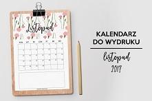 Kalendarz na listopad do pobrania i wydruku. Szczegóły na blogu po kliknięciu...