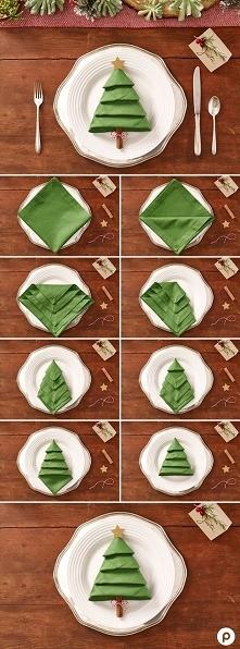 Serwetka choinka, idealna na świąteczny stół ;)