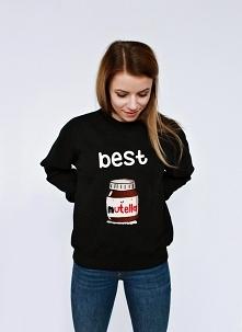 Bluza dla przyjaciół z nadrukiem BEST FRIENDS NUTELLA i tost - bluza dla przyjaciela albo bluza dla przyjaciółki ze śmiesznym nadrukiem - napisem best friends i słoikiem nutelli...