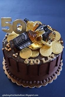 Tor z buteleczkami Whisky