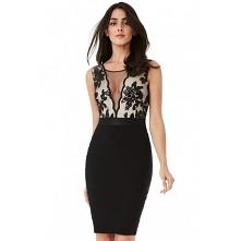 Czarna ołówkowa sukienka wi...