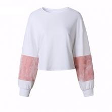 HIT! Biała bluza z różowym ...
