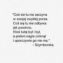 """Kot w pustym mieszkaniu"" - Wisława Szymborska"
