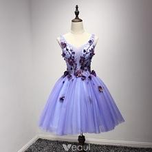 Piękne Liliowy Sukienki Kok...