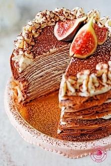 Naleśnikowy tort tiramisu - Wypieki Beaty