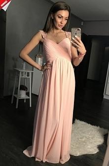 Długa prosta sukienka