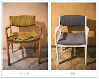 Moja metamorfoza krzeseł prl