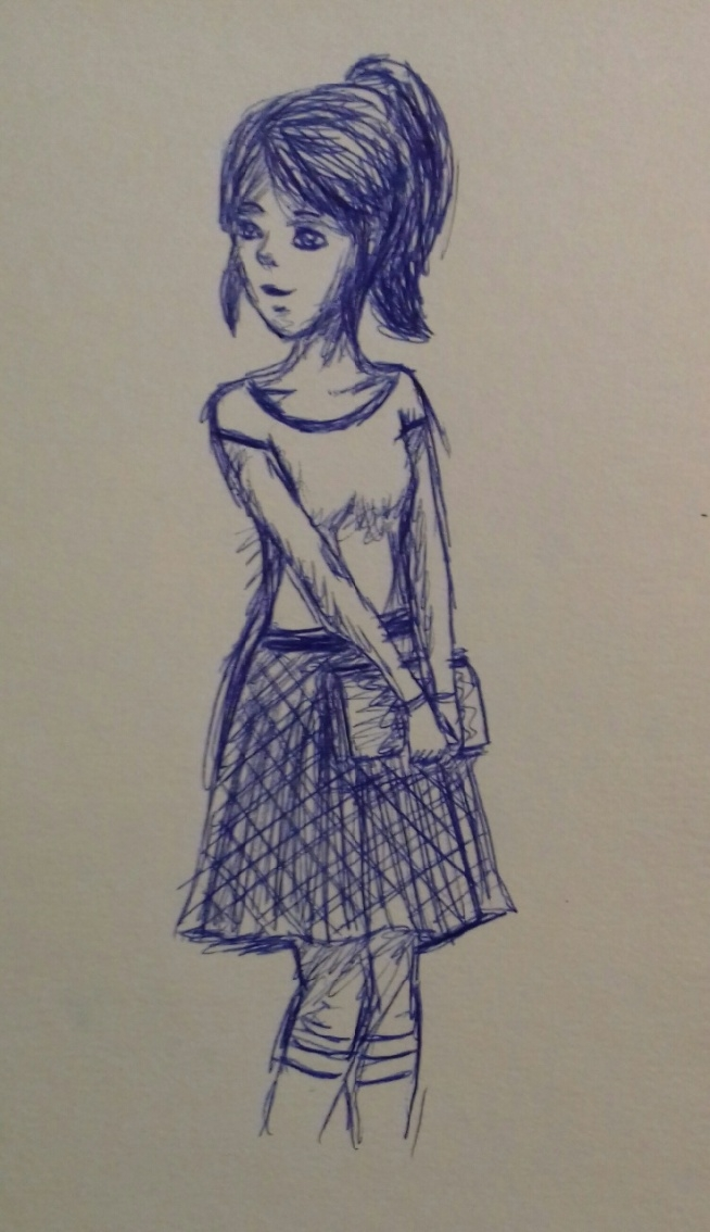 Rysunek długopisem bez szkicu