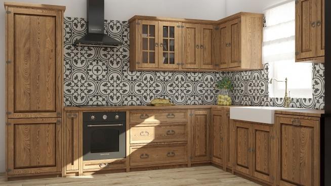 Rustykalne Meble Kuchenne Z Litego Drewna Na Drewniane Meble