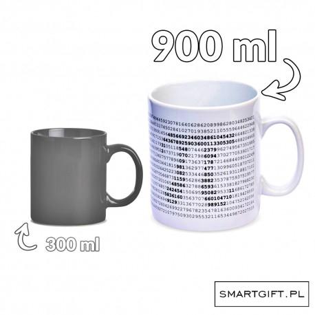 Gigantyczny Kubek 900ml dla matematyka  Kubek z przybliżeniem liczby pi (zapis cyfrowy)