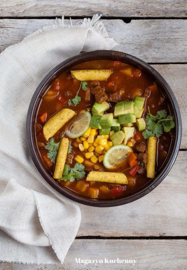 Coś na chłodniejsze dni. Meksykańska zupa gulaszowa. Przepis po kliknięciu w zdjęcie.