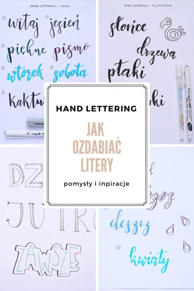 Jak ozdabiać litery w hand letteringu - pomysły i inspiracje • origamifrog.pl