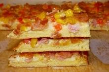 Pizza jajeczna na chlebie tostowym