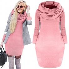 Cieplutka sukienka oversize - poczuj luz <3