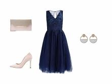 Granat + pudrowy róż ❤️  Więcej KLIK W ZDJĘCIE. ● sukienka Chi Chi London