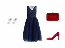 Granat + czerwień ❤️  Więcej KLIK W ZDJĘCIE.  ● sukienka Chi Chi London