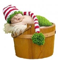 Uroczy czapka elfa na pierwszą sesję bobasa. Klik w zdjęcie.
