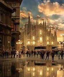 Katedra w Mediolanie.