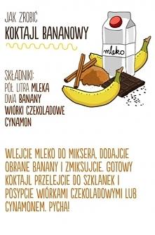 Przepis na koktajl bananowu