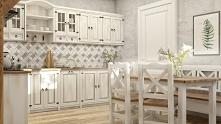 bielona kuchnia w rustykalnym stylu
