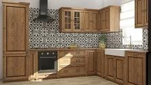 rustykalne meble kuchenne z litego drewna