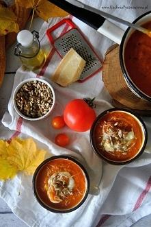 zupa krem z pieczonych pomidorów i batatów