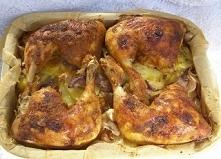 na ziemniakach pieczone uda kurczaka...