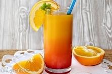 Tequila Sunrise (drink z tequilą, sokiem pomarańczowym i syropem grenadina)
