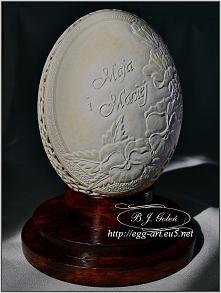 Egg art rzeźba na jajku str...
