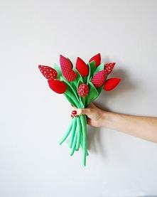 Zestaw pięknych, czerwonych...