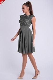Sukienka rozkloszowana szara