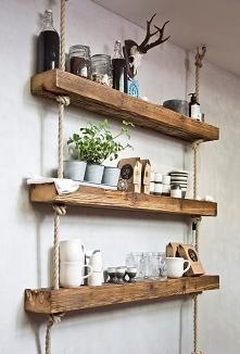 DIY -> sznur konopny + surowe drewno