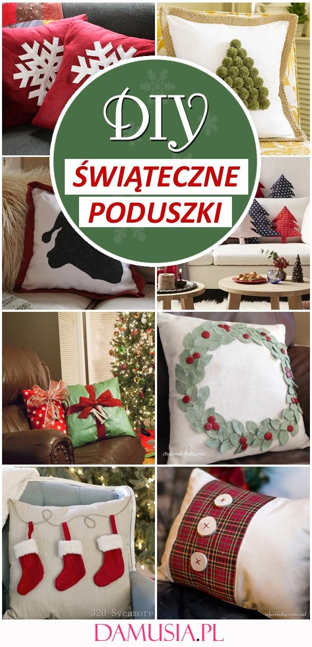 10 DIY Ślicznych Poduszek Świątecznych, Które Możecie Wykonać w Domu