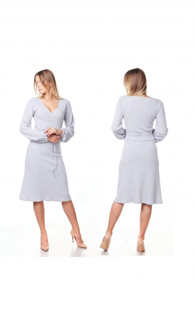 Kobieca szara sukienka :)