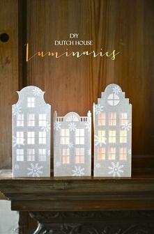 papierowe domy - wzór do po...