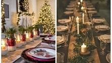 dekoracja świątecznego stółu
