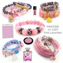 biżuteria pantone pink lavender- bransoletki pudrowy róż, bransoletki fiołkowe, bransoletki różowe