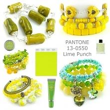 biżuteria lime punch- bransoletki limonkowe, bransoletki żółte, bransoletki jaskrawe, bransoletki nasycone kolory