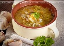 Zupa ogórkowa z wkładką- Iwony