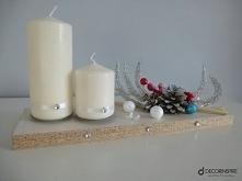 dekoracyjny świecznik na Boże Narodzenie